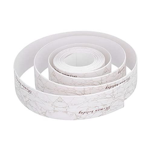 Tira de cinta de calafateo, cinta autoadhesiva para esquinas de pared, impermeable, resistente a altas temperaturas, cinta de sellado de calafateo, PVC + acrílico para sellar huecos en fregaderos de e