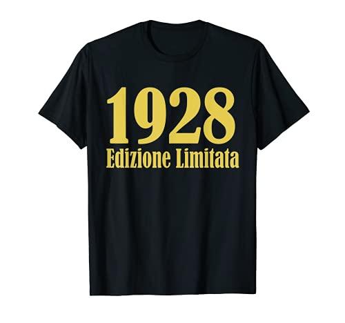 1928 Edizione limitata 93 Anni Compleanno Uomo Donna Regalo Maglietta