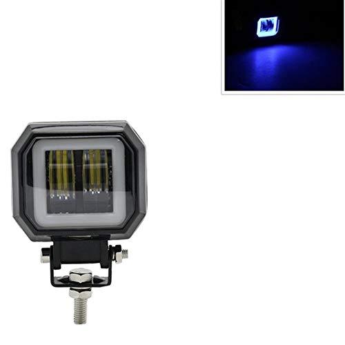 JLMOH Componentes de los Faros Focos LED portátiles Angel Eyes Barra Ligera Campo a través del Barco del Coche llevó la luz del Trabajo 1pair / 1pc 3Inch 12V 24V 6500K 40W Impermeable Square
