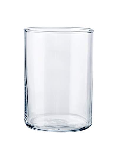 Caja 12 Uds. Jerte Vaso Largo Fabricado en Vidrio Tensionado. Capacidad 50 Cl. Medidas: Alto 11.4 Cm. Ø 8.2 Cm.