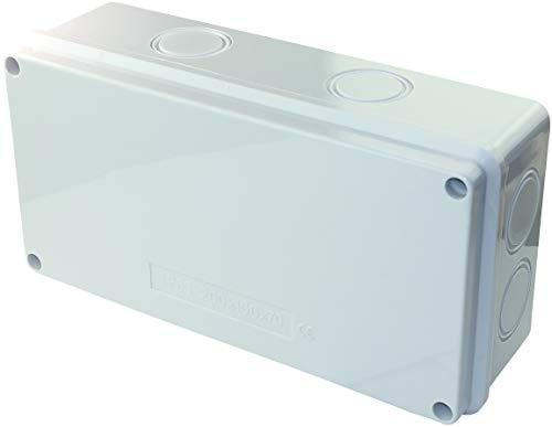 AERZETIX - Scatola di derivazione elettrica rettangolare 200x100x70mm - Scatola di giunzione/distribuzione impermeabile IP65 - Superficie liscia - Applicata - Supporto - Fissaggio - C45805