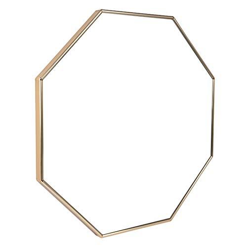 Espejo moderno de pared HD para dormitorio Espejo colgante de pared con forma de anís estrellado, espejo de pared para sala de estar, espejo de tocador, espejo decorativo para la decoración del dorm