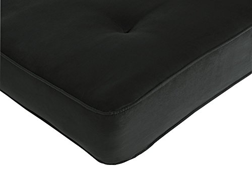 DHP 8-Inch Independently Encased Coil Futon Mattress, Full Size, Black