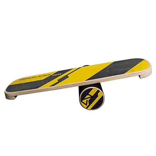 LLC-POWER Balance Board Instructor, Instructor De Equilibrio De Madera para La Aptitud con El Rodillo, para Surf, Sup, Wakesurf, Wakeskate, Esquí, Snowboard Y Skate