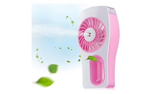 Preisvergleich Produktbild guangdayi New Mini Handheld USB Zerstäuberfunktion Fan Spray Fan mit persönlichem Kühlung Mist Luftbefeuchter Akku tragbar Zerstäuberfunktion Lüfter für Home Office und Reisen Rosa rose