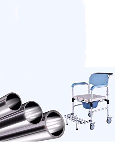 YCQCZW Zittende douchestoel, commode stoel op wielen, oudere patiënt gehandicapt opvouwbare toiletzitting comfortabel en handig