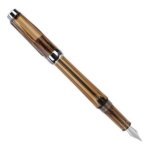 Bolígrafos de escritura blancos transparentes para regalo de Navidad para novia y novio (marrón transparente)