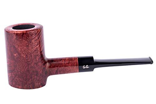 Imagen del productoPipa para fumar tabaco de madera, independiente, tallada a mano de raíz de brezo, filtro de enfriamiento de metal, viene con bolsa, en caja (Póker, Caoba)