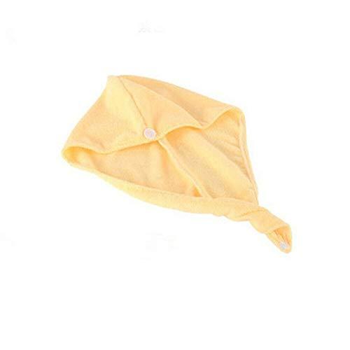 Mdsfe handdoek van microvezel, 4 kleuren, handdoek met turband, douchehoed, microvezel, geel