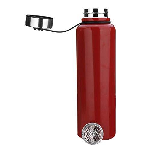 litulituhallo Botella de agua del metal 1.5L botella de vacío del acero inoxidable, botella de agua de los deportes de la no-fuga bebe la botella para correr