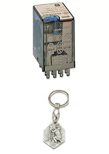 Zisa-Kombi Relais Finder F 55.34, 24 V-, 4xUM, 7 A, LED-Anzeige, Freilaufdiode (985988340868) mit Anhänger Herz Jesu 2,5cm