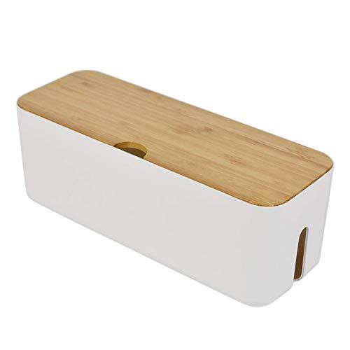 Caja de almacenamiento de cables de la tira de cables de la caja del cargador anti polvo del enchufe organizador del cubo de almacenamiento del cargador de la caja de gestión