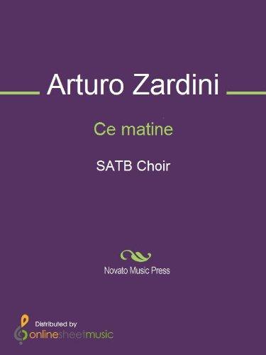 Ce matine - Score (English Edition)