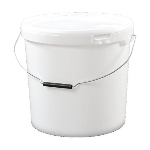 Trevendo® 20 liter Eimer mit Deckel, weiß