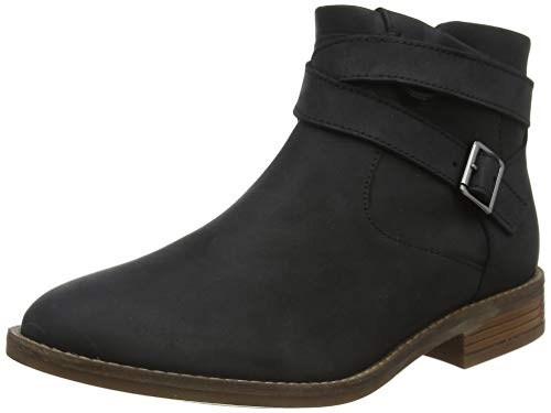 Clarks Damen Camzin Dime Stiefelette, Black Leather, 39 EU