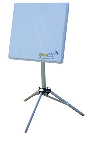 QuickSAT QS80 Flat Portable Touring Satellite System with Fast Dish Alignment. Easy satellite TV...