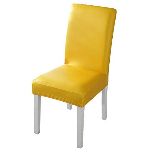 Fundas para sillas de comedor, 4 piezas de piel sintética extraíble y lavable para comedor o decor