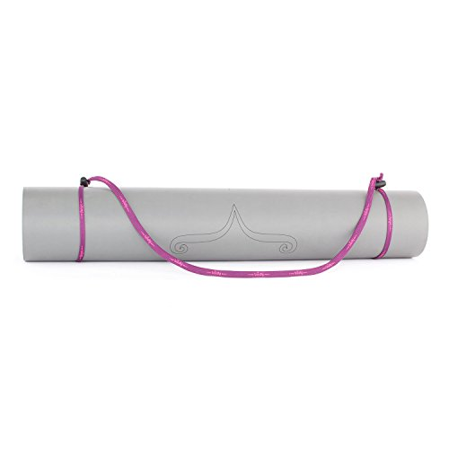 Universal-Yogamatten-Trageband (lila-pink), einfache und günstige Transporthilfe für Yogamatten, verstellbar