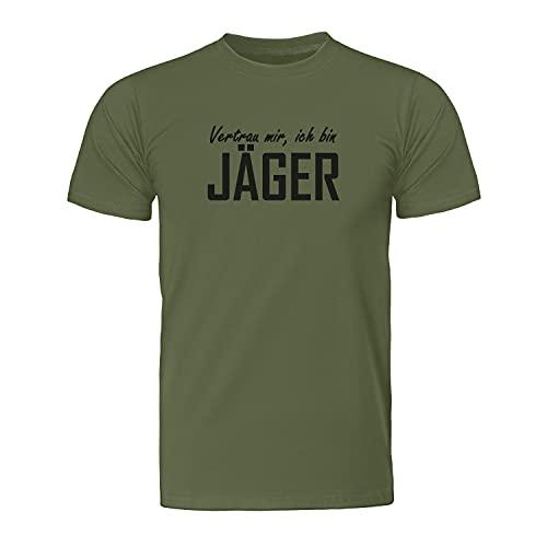 Vertrau Mir, ich Bin Jäger – Jäger – Maglietta da uomo – Fairtrade – Neutro – ID8020 militare XXL