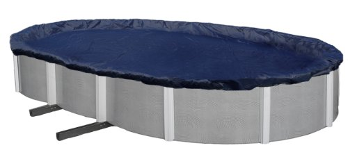 Defender 8-Year 16 feet x 28 feet Oval Above-Ground Winter Cover for 12 feet x 24 feet Pool -  Blue Wave, BWC716