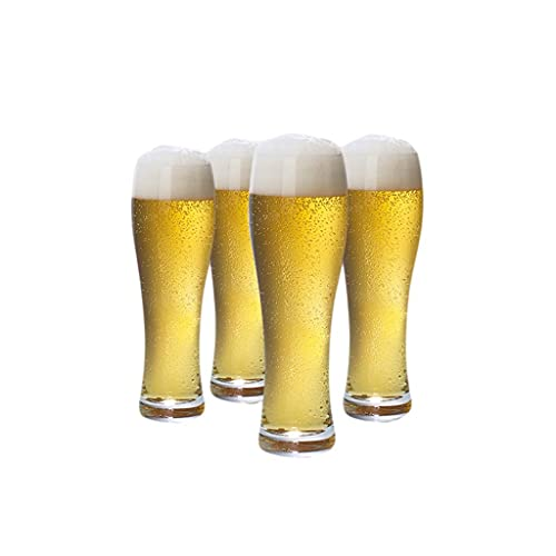 TDMYCS Beer Mug Set Handmade Pint Glasses Premium Quality Luxuriously Drinking Cups for Beer Drinks Beer Glasses (Color : Clear2, Size : 4)