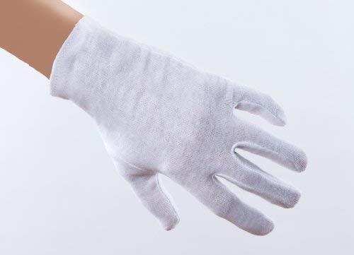 Medi-Inn Baumwollhandschuhe weiß 12 Paar | Größe M | 100% Baumwolle | weiche Trikothandschuhe | waschbar bis max. 30°C