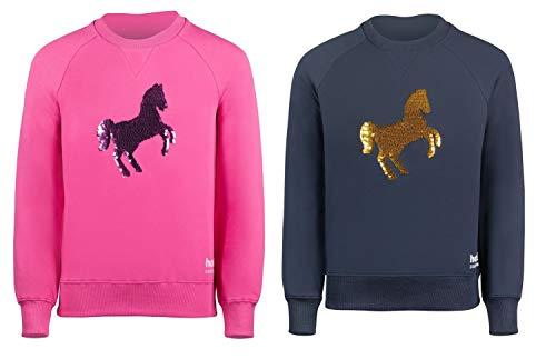 netproshop College Shirt met paardenmotief van omkeerbare pailletten