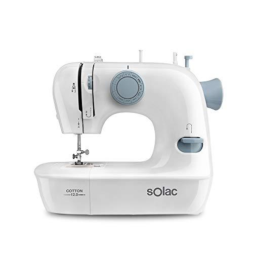 Solac SW8220 Cotton 12 Máquina de Coser mecánica,