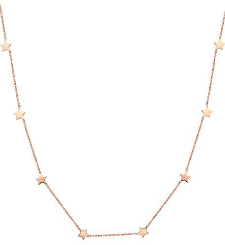 Happiness Boutique Collana Stella in Oro Rosa   Delicato Choker Collana Stella Pendente Bijoux Acciaio Inossidabile