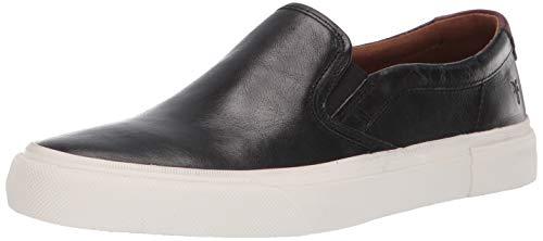 Frye Men's Ludlow Slip On Sneaker, Black/White, 11 Medium US