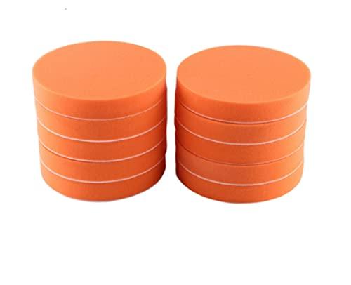 XILAIDENG Zzhua - Juego de 10 almohadillas de pulido para coche, 150 mm, esponja para pulir y encerar, herramienta para pulir, para pulir, para coche, color naranja