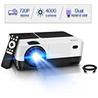 Wsky LED Full 1080P Video Supported Mini Movie Projector