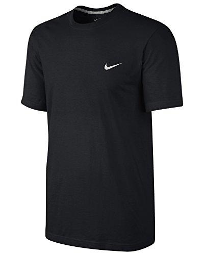 NIKE Embroidered Swoosh Men's Short-Sleeved Shirt Black black Size:Medium