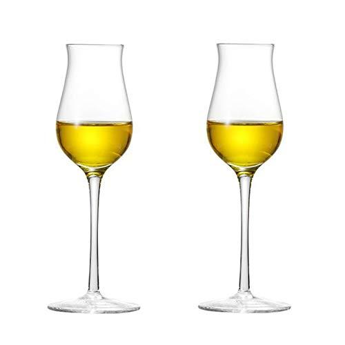 Einfachheit 2-pc Champagnerglas 200ml Becher Cocktail Glas Rotweinglas Kristallglas Stemware Glas Haushalt 7.1x21.7cm MUMUJIN
