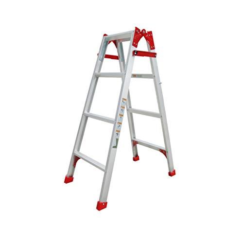 C-J-Xin metallinstruktör, tre steg/fyra steg/fem steg dubbla steg byggarbetsplatser stege pall vikbara ståstolar/olika höjder hushållsstege (storlek: 45,5 x 79,5 x 111 cm)