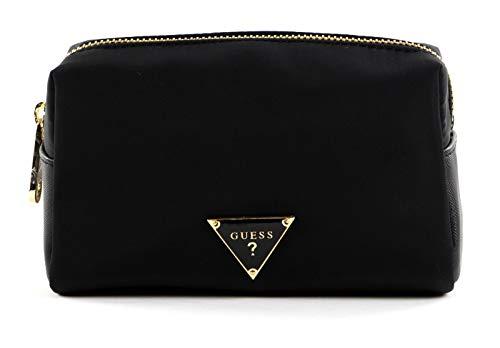 GUESS Did I Say 90s? Top Zip Cosmetic Bag Black