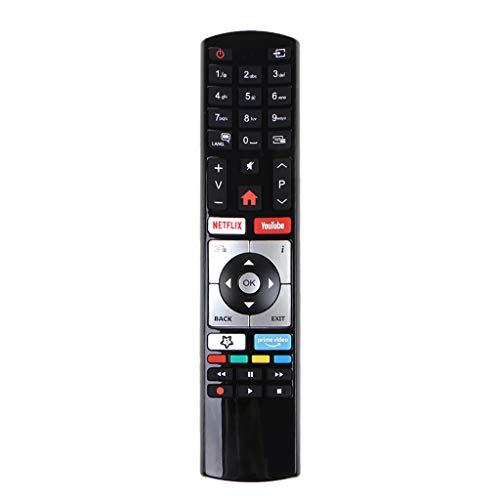 ATATMOUNT Control Remoto inalámbrico RC4318 para Vestel Finlux Telefunken Edenwood 4K Smart Television Accesorios de Repuesto Piezas de Repuesto