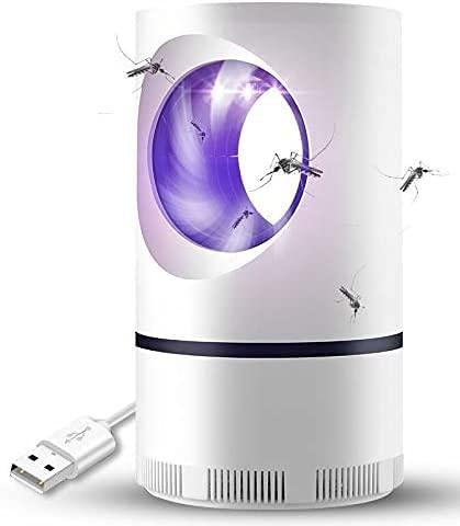 JSG Lámpara Antimosquitos, Lámpara Mata Mosquitos USB Electronic 360 ° LED Luz De Onda Guiada, Niños Seguros, No Tóxicos, Sin Radiación, Sin Químicos y Sin Insecticidas