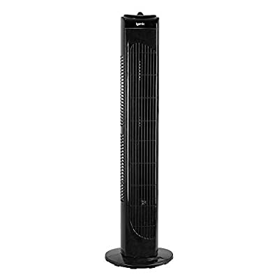 Igenix DF0029BL Oscillating Tower Fan, 29 Inch, 3 Speed Settings with Auto Shut Off, Black
