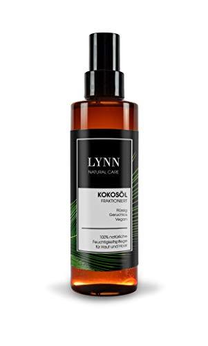 Flüssiges Kokosöl von LYNN - MCT-Öl - mit Zerstäuber - 100% rein und vegan - natürliche Feuchtigkeitspflege für Haut und Haar - 200ml