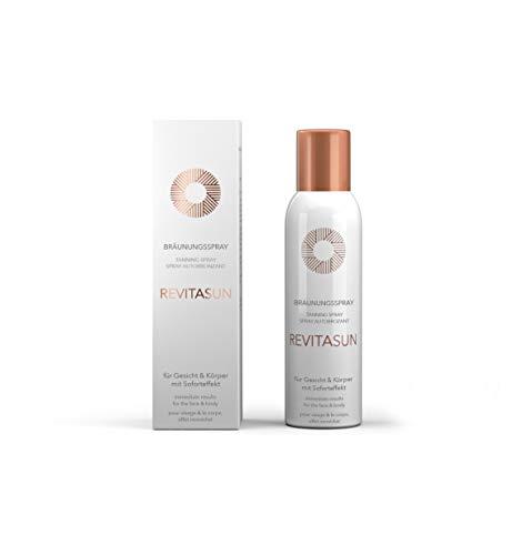 RevitaSun Bräunungsspray 150ml, vegane Rezeptur, langanhaltend, frischer Duft, Soforteffekt, für alle Hauttypen