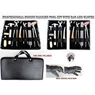 Professional Equine Horse Farrier Tool Kit Grooming Hoof Bot Knife Shoe Puller Nipper Rasp 984109