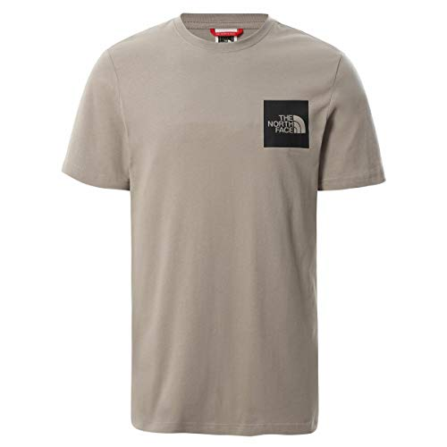 The North Face Camiseta para Hombre S/S Fine tee Mineral Grey S