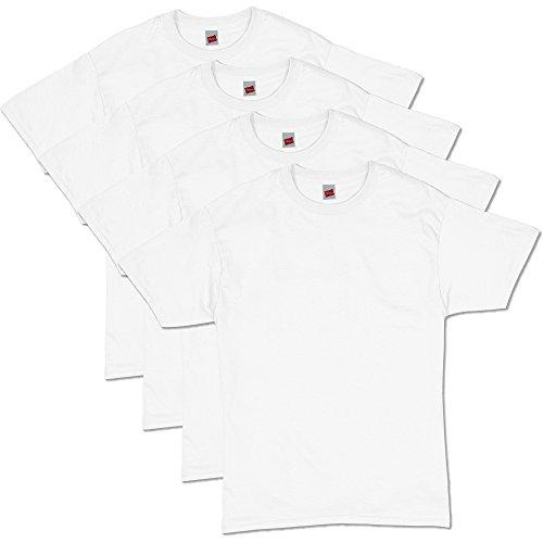 Hanes Men's ComfortSoft Short Sleeve T-Shirt (4 Pack ),White,X-Large