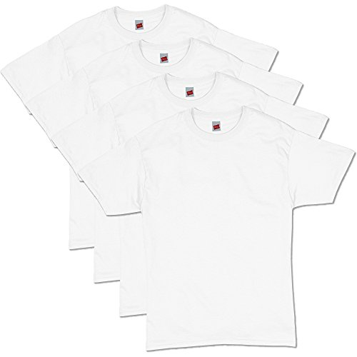 Hanes Men's ComfortSoft Short Sleeve T-Shirt (4 Pack ),White,3X-Large