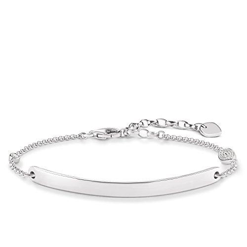 Thomas Sabo Damen-Armband Love Bridge 925 Sterling Silber Zirkonia weiß Länge von 14 bis 19 cm Brücke 5 cm LBA0101-051-14-L19v