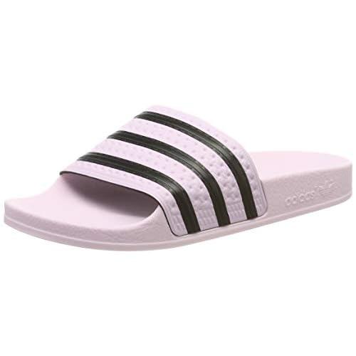 adidas Adilette W, Scarpe da Spiaggia e Piscina Donna, Rosa (Clear Pink/Clear Pink/Core Black Clear Pink/Clear Pink/Core Black), 37 EU
