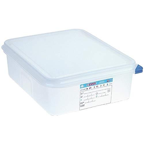 Boîte alimentaire / conteneur hermétique 6,5L Araven 6.5 litres (GN 1/2). 100(h) x 325(l) x 265(p)mm. Boîte de 4