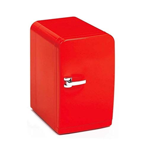Nevera Portatil Mini Refrigerador, Refrigerador For Automóvil, Refrigerador Doble For Auto/Uso En El Hogar Mini Caja Con Capacidad 5L - Rojo - Adecuado For Camping, Dormitorio, Oficina, Viajes, Etc.