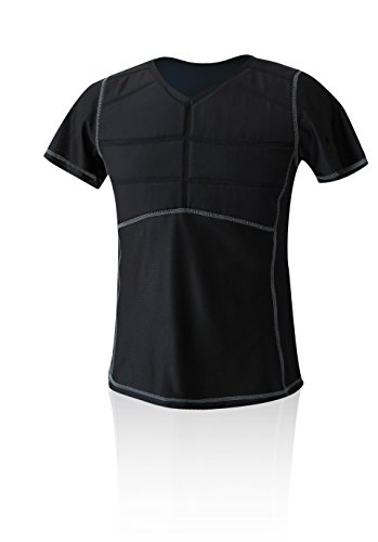 E.COOLINE Powercool SX3 Kühl-T-Shirt erfrischend kühlend mit Nierenschutz Unisex-Erwachsene, Schwarz, 120-126 cm Brustumfang